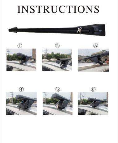 Bara portbagaj auto din aluminiu 120cm pt barile fara spatiu de carose