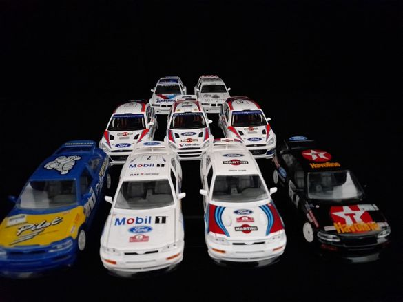 1:24 BBurago Ford Escort RS Cosworth, Ford Focus, BMW M3 Rally cars