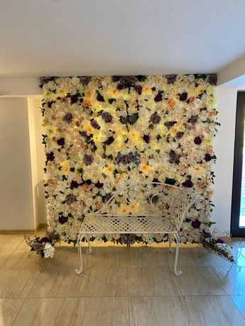 Panou evenimente,flori artificiale, 2/2m. Pret 4700 lei