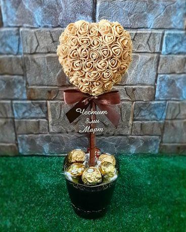 Дръвче от бонбони / дръвчета от цветя