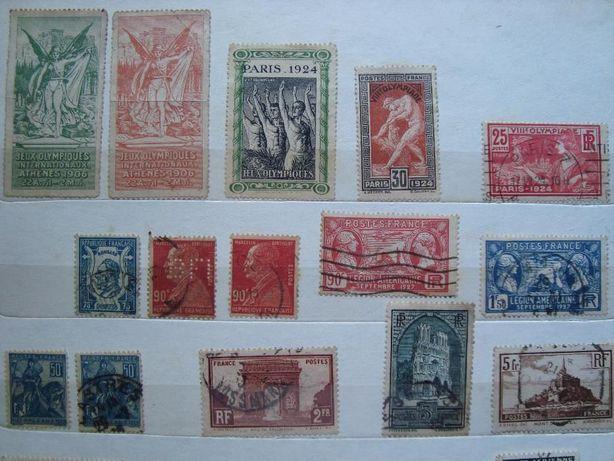 timbre Franta Jocuri Olimpice, monumente si colonii
