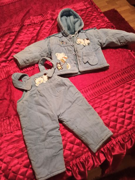 Set copii 1-2 ani groase de iarna matlasat
