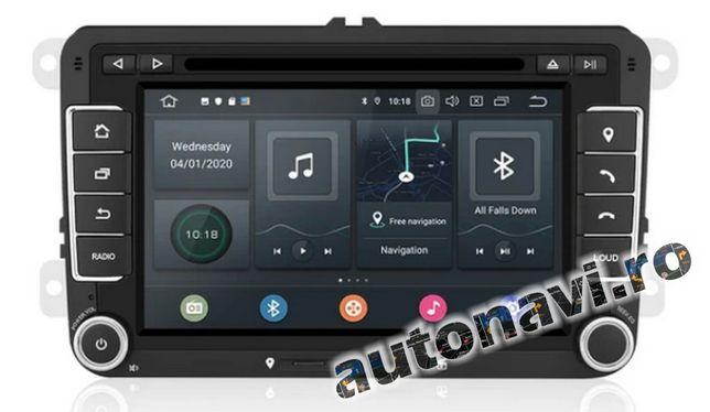 VW Skoda Seat Android 10 4+64Gb Gps Multimedia Navigatie