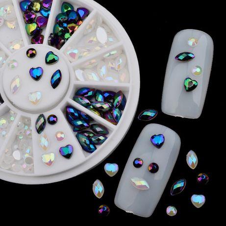 Уникални камъни за нокти - никел, перла, сърца!