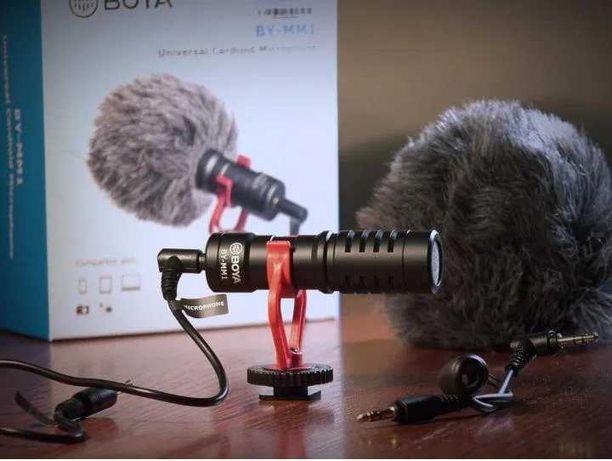 Накамерный микрофон-пушка Boya BY-MM1 кардиодный микрофон. Г. Алматы