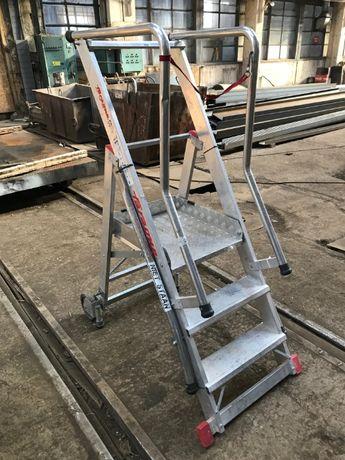 Сгъваема алуминиева стълба с платформа Faraone