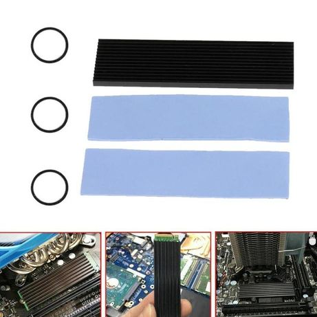 Kit racire SSD M.2 , aluminiu + thermalpad , produs nou !