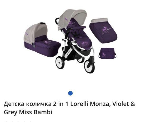 ПРОМОЦИЯ! Комбинирана бебешка количка Монца 3 мис бамби на лорели