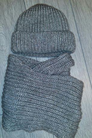 Зимняя шапка+снуд