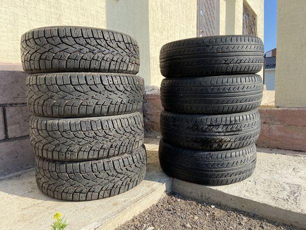 Продам комплект б/у летние и зимние шины