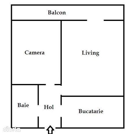 Apartament cu doua cam 52 mp et unu