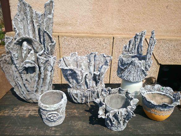 Саксии, кашпи, вази и други ръчна изработка