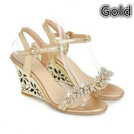 Sandale ocazie aurii