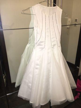 Уникална Бяла рокля за шаферки(1 път обличана)