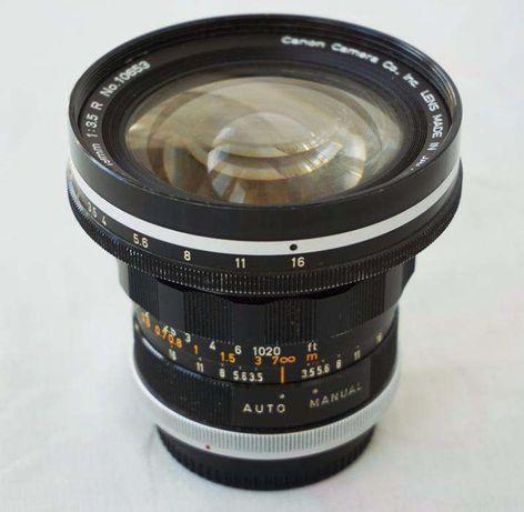 Obiectiv grandangular superangular Canon FL 19mm f3.5