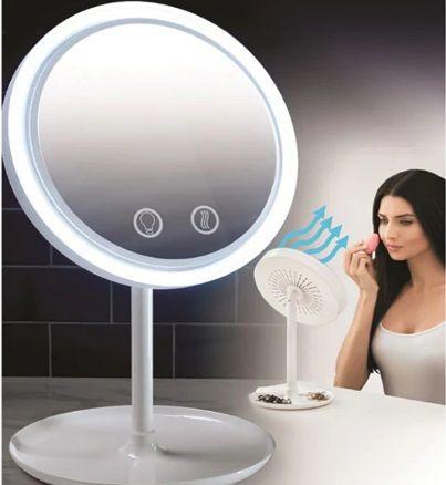 Огледало с вграден вентилатор (със сензорно управление)