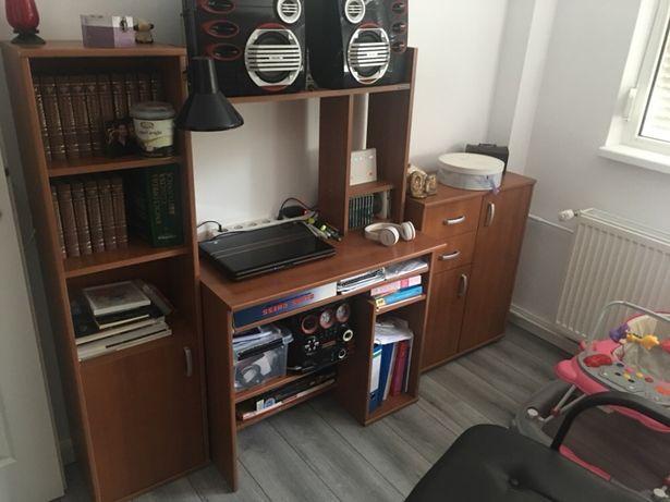 Vând dulap cu birou set complet