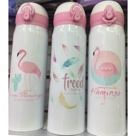 Термос питьевой Серия фламинго