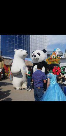 Ростовые куклы панда и медведь 3 м 2 шт