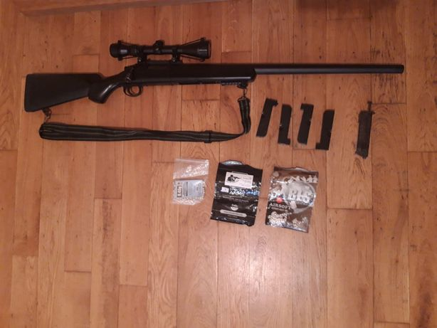 Vand Replica Sniper MB03 Negru Full Upgrade