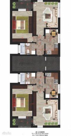 Penthouse 3 camere, 76 mp, terasa 73 mp Bragadiru