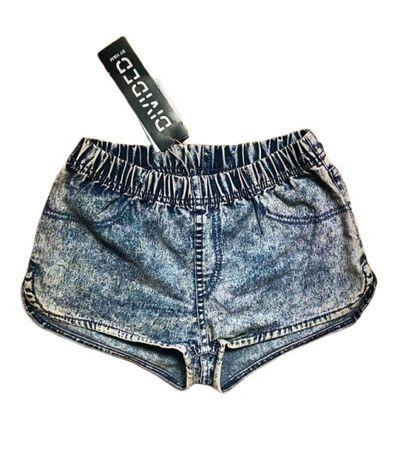 Pantaloni scurti Blugi H&M Divided elastic dama elastici