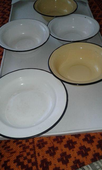 Чашки эмалированные советские