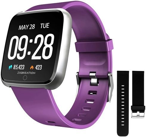 Smartwatch - zkcreation violet - Android si IOS - Nou
