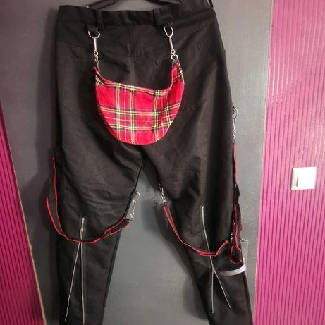 Мъжки панталони с ципове и тиранти XL/XXL