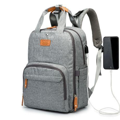Сумка рюкзак для мам с юсб портом и термокарманами