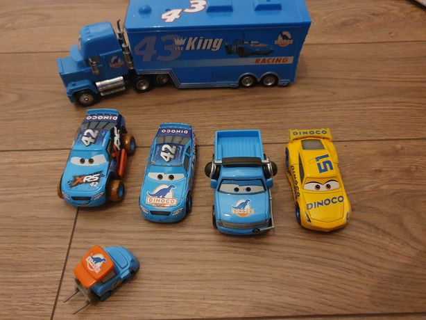 Set Dinoco, Cars, Fulger, Lightning Mcqueen