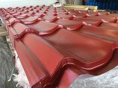 Метална керемида 2 цвята червен RAL3011 и кафяв RAL8017 ламарина ЛТ LT