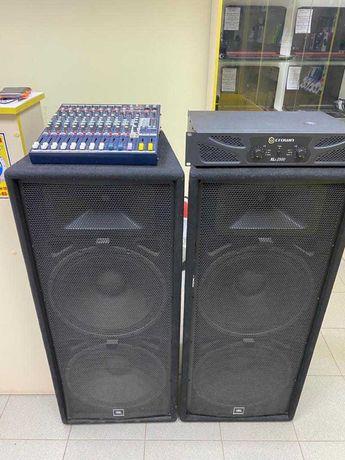 Мощная акустическая система (JBL 225, Crawn Xli, Soundcraft EFX 8)