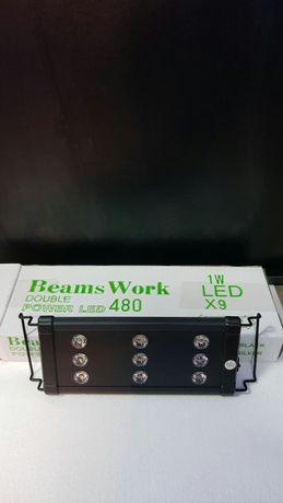 Lampă cu leduri pentru acvariu Nano-Beams work - 9w