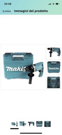 Makita HP1631KX3 Trapano PERCUSS 710W +Acc 74PZ, 710 W, 230 V- NOUA a