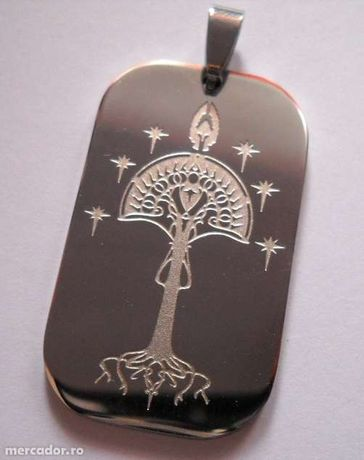 Dog Tag (DogTag) Aragorn, Land of Stone, White Tree of Gondor