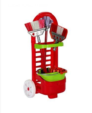 Детски играчки играчка Комплект за почистване с количка