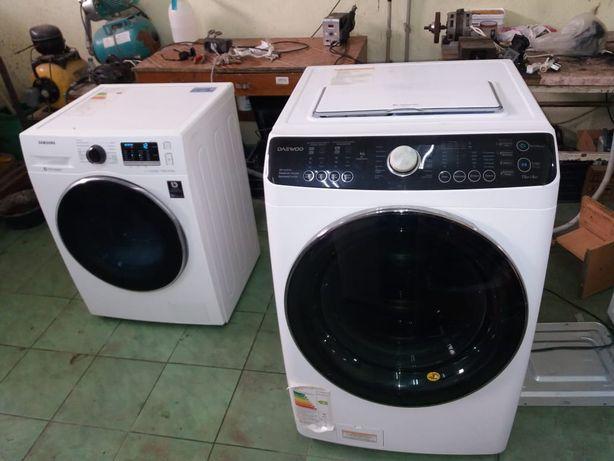 Ремонт стиральных машин.  Кір машина жөндеу. Установка стираль машин.