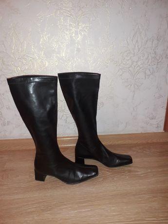 Женские фирменные кожаные сапоги чулки Gabor