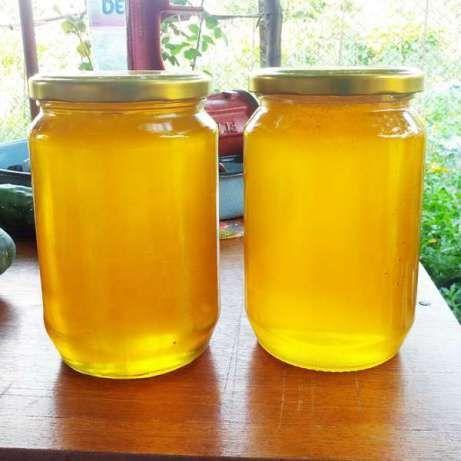 Натурален пчелен мед и цветен прашец пчелиный мёд
