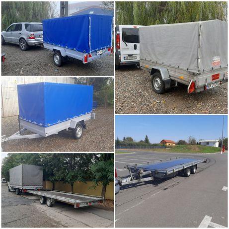 Inchiriez remorca/inchirieri trailer cu o axa/trailer de inchiriat 4m