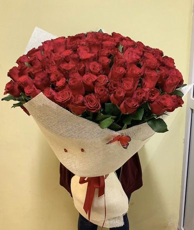 Метровые розы 800тг! Быстрая доставка по Астане!