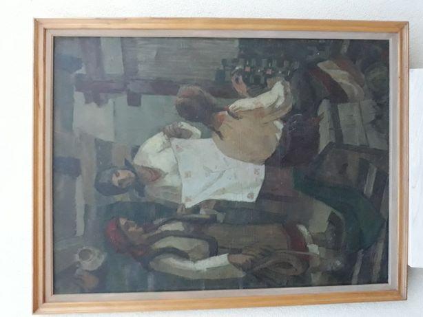 """Spiru Vergulescu """"Daruri pentru festival """" (1957) 95 cm/1,28 m"""