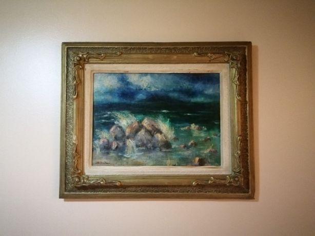Tablou pictura în ulei vechime 60 ani