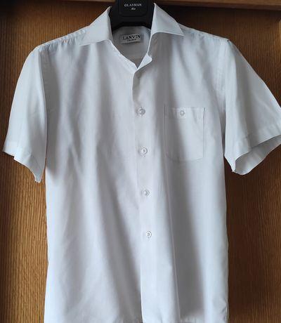 Продам белую рубашку с коротким рукавом на мальчика 11-13 лет, LANVIN
