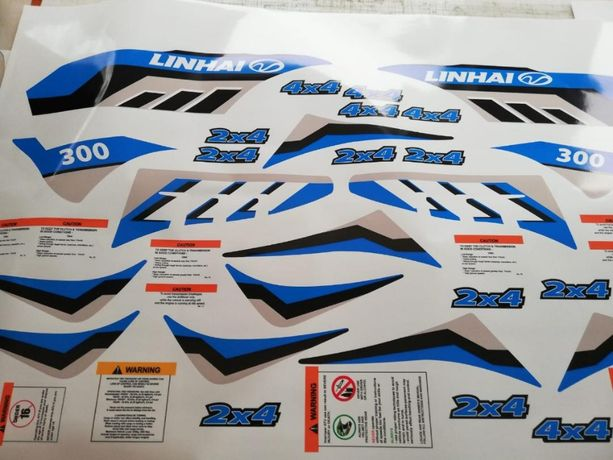 Stickere Abtipilduri Autocolant Atv LINHAI Aniversary 4x2 si 4x4
