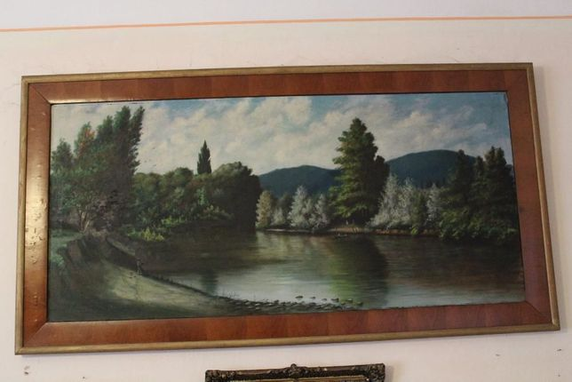 tablou vechi - peisaj