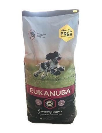 Eukanuba Medium Breeds 18кг - Puppy - Adult - Гранула за Куче - 2 вида