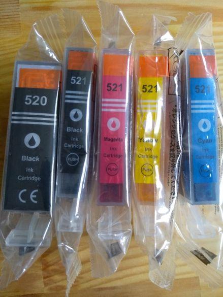 Мастилници, касетки с мастило за Canon, PGI 520 CLI 521