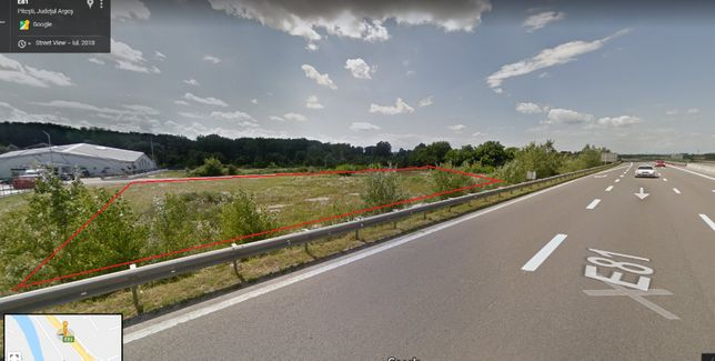 Inchiriez teren neconstruibil la A1, km116 pe termen lung, expozitie